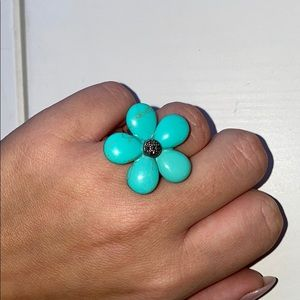 Turquoise Blue Flower Ring 🌼💍